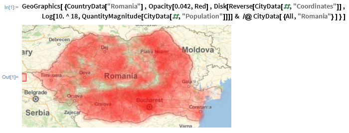 Country Population Distribution with Wolfram Language