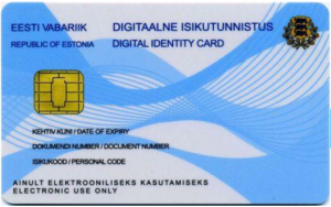 e-residency identity card template