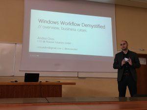 CodeCamp Timisoara - Windows Workflow Foundation - Andrei Oros