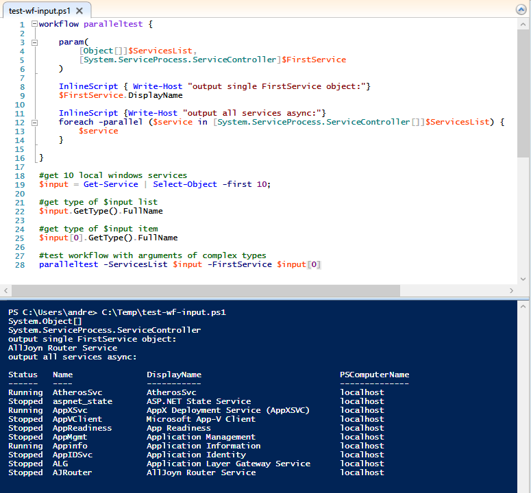 powershell workflow