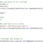 Workflow Serialization - Xaml Code